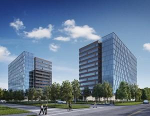 A rendering of Skanska's new office project in the Energy Corridor (Courtesy of Skanska USA)